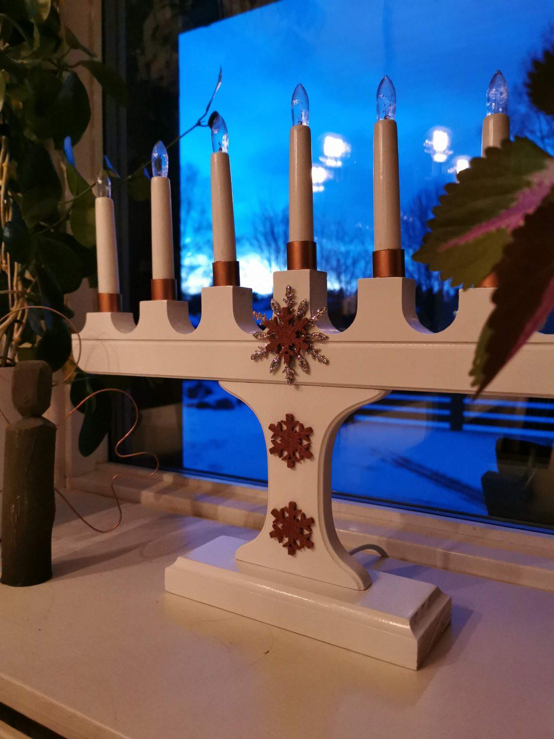adventsljusstake adventspyssel